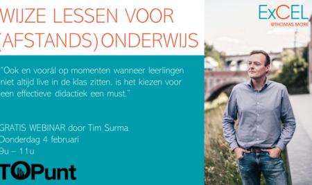 Gratis webinar 4/02 'Wijze Lessen: effectief (afstands)onderwijs' door Tim Surma